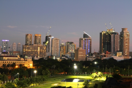 A view of Metro Manila, Philippines photo