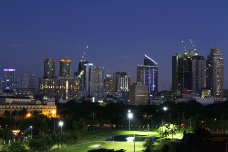manila: A view of Metro Manila, Philippines Stock Photo
