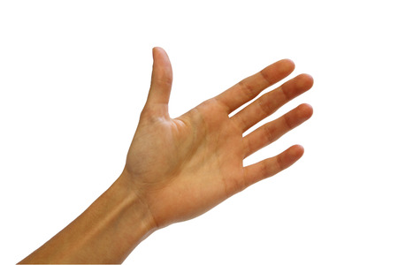 interdigital: An empty hand like holding something blank