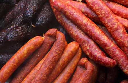Assorted sausages