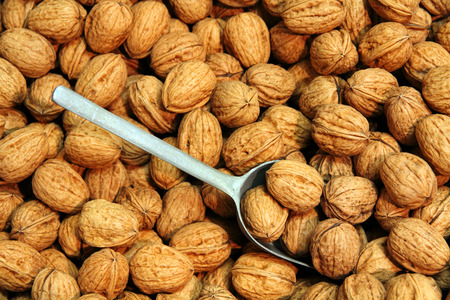 A pile of dry Walnuts