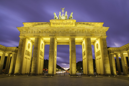 Brandenburg gate (Brandenburger Tor) in Berlin at sunset