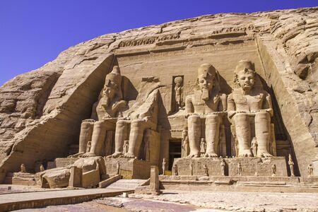 Abu Simbel temple Aswan, Egypt. Stock Photo