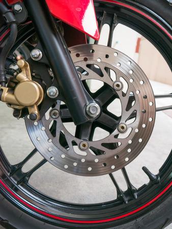 brake: brake motorcycle