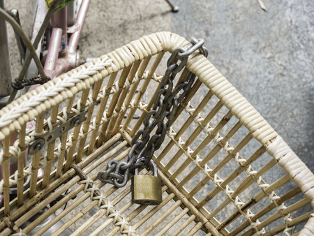 keylock: keylock in basket bicycle concept you should lock a bicycle not lock a basket