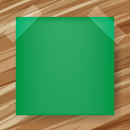 sticky note on wood board vector eps10