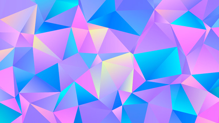 Color Vibrant Triangle Polygon Bg Creative Design Ilustração