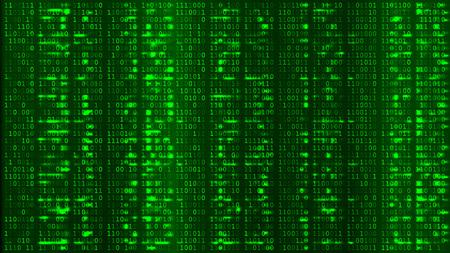 Green Digital BG. Coding or Hacking Concept. Vetores
