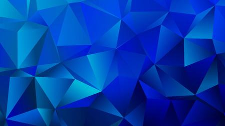 Blaue Farbtöne Trendy Crystal Polygonal Backdrop Design