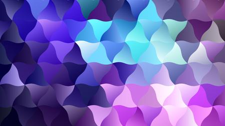 Low-Poly-Hintergrund mit einer Mischung aus Blau und Lila Vektorgrafik