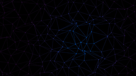Trendy Polygonal Triangle Technology on Dark BG