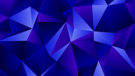 Blue Sapphire Trendy Low Poly Backdrop Design