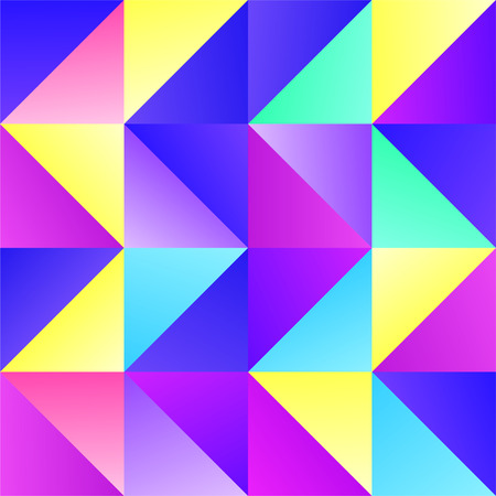 Bright Colors Geometric Trendy Triangle BG Design