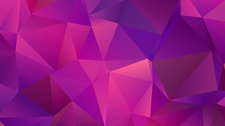 Fuchsia Pink Low Poly Backdrop with Triangles Ilustrace