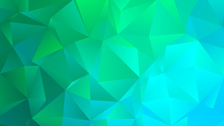Bright Turquoise Trendy Low Poly Backdrop Design