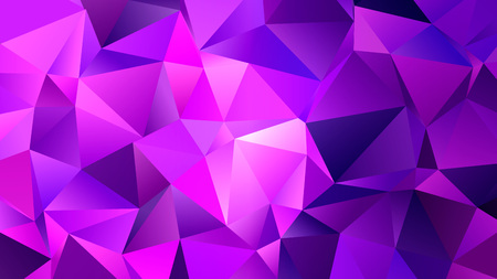 Pink Triangles Trendy Low Poly Backdrop Design
