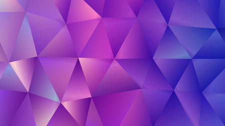 Crystal Purple Triangle Trendy Low Poly Backdrop Illustration