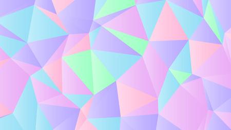 Pastell hell schillerndes Low-Poly-Hintergrunddesign Vektorgrafik