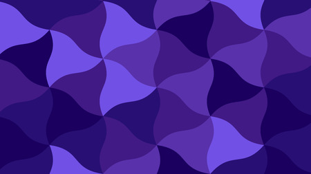 Purple BG with Curved Tringles. Navy Pattern Ilustrace
