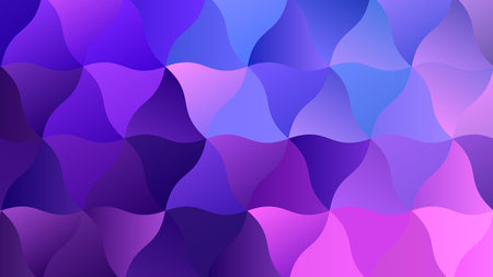 Low Poly Backdrop with Blend of Blue and Purple Illustration