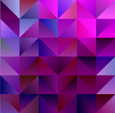 Geometric Magenta and Cyan Backdrop with Triangles Illustration
