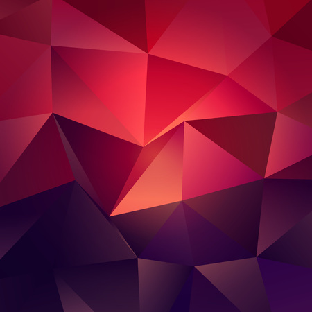 Dark Red with Light Low Poly Backdrop Stock Illustratie