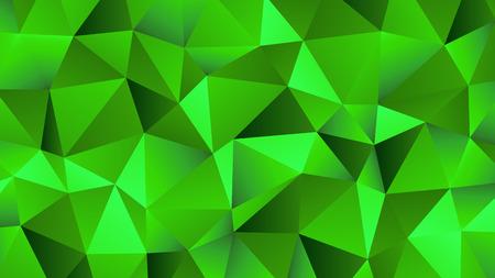 Green Hues Trendy Low Poly Backdrop Design Illustration