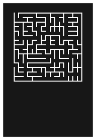 Minimal Poster with Maze. Vector BG. Decision Concept