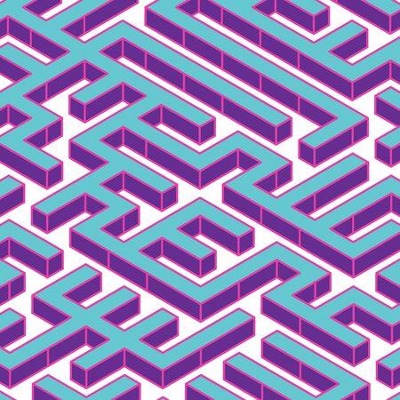 Isometric Maze BG Design. Making Decision Concept Stock Illustratie