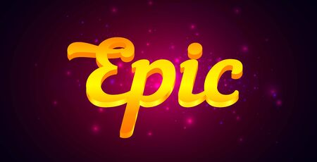 Epic Lettering with Golden Text on Dark Purple Background