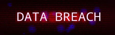 Dark Red BG with Data Breach Glitch Effect