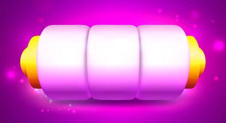 Cartoon Empty Slot Machine on Pink Background  イラスト・ベクター素材