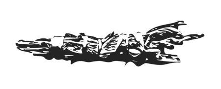 Herbal Smudge Stick Black Ink Illustration  イラスト・ベクター素材