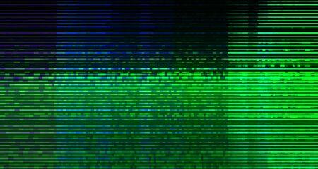 Abstract Technology Binary Code Dark Green Background. Cyber Alert