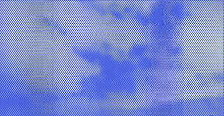 Sky with Clouds Halftone Vector Background. Trendy Backdrop for Your Business and Advertising