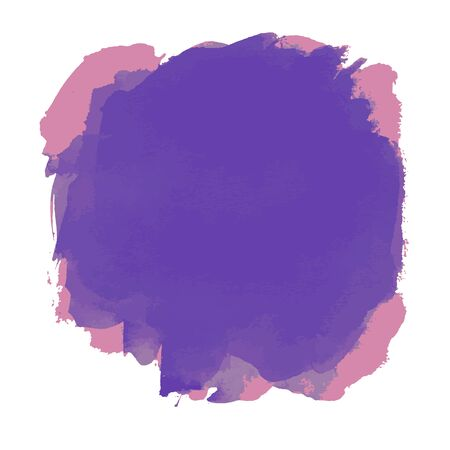 Violet Purple Simple Watercolor Abstract Badge Shape Background  イラスト・ベクター素材