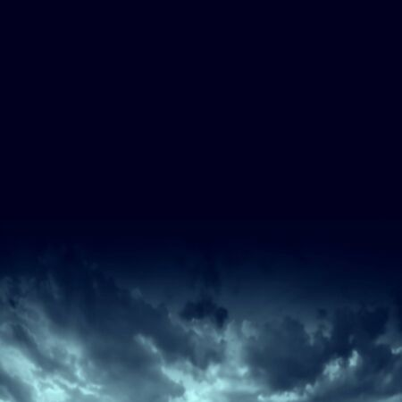 Dark blue night sky with clouds background. Realistic Vector Ilustrace