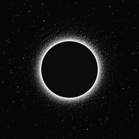 Mondfinsternis auf dunklem Hintergrund isoliert. Magische Vektorelemente Vektorgrafik