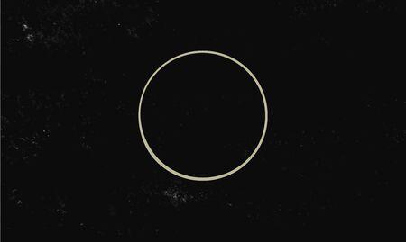 Circle symbols isolated on dark background. Magic vector elements 写真素材 - 138230352