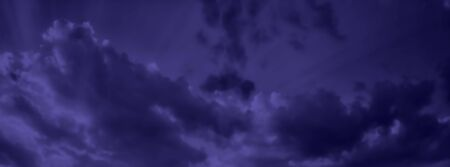 Dark blue night sky with clouds background. Realistic Vector Wallpaper.