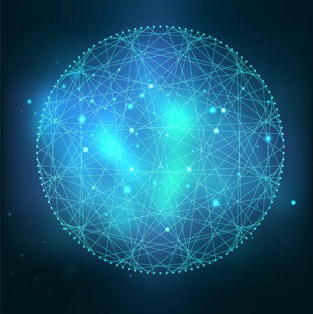 Symbole de vecteur de géométrie sacrée mystique. Spiritualité, concept d'harmonie Vecteurs