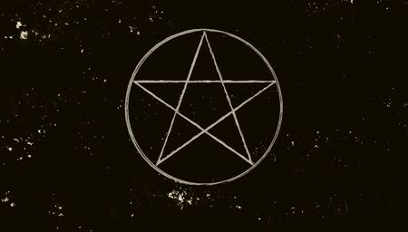 Pentacle isolated on dark background. Magic vector elements 写真素材 - 138652588