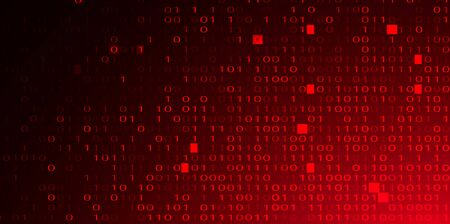 Abstract Red Background with Binary Code. Malware, or Hack Attack Concept 写真素材 - 141161100