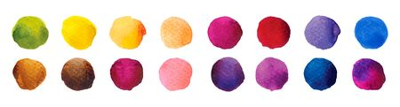 Colorful Watercolour Circles. Color drawing. Decorative backdrop vector