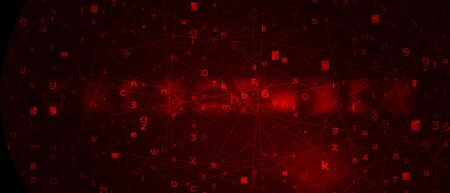 Abstract Red Background with Binary Code. Malware, or Hack Attack Concept 写真素材 - 141161113