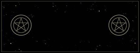 Pentacle isolated on dark background. Magic vector decorative elements Illustration