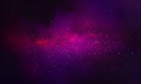 Vector cosmic illustration. Colorful space background  イラスト・ベクター素材