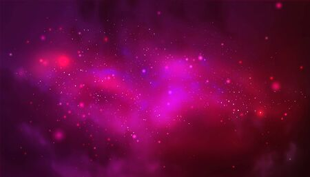 Vector cosmic illustration. Colorful space background with stars  イラスト・ベクター素材
