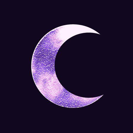Occult symbol moon isolated on dark background. Magic vector decorative 写真素材 - 144698632