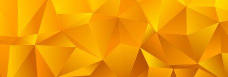 Golden Yellow Trendy Low Poly Backdrop Design 写真素材 - 149668278